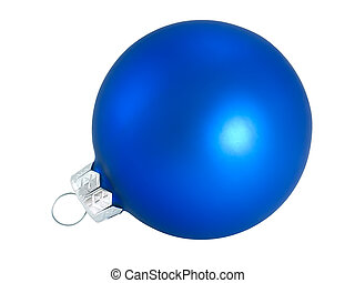 Blue Christmas ball for decoration Christmas tree on white...