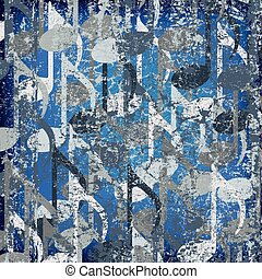 abstract cracked background blue musical note
