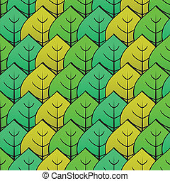 Abstract background with green leaf. Seamless pattern....