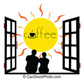 view of the sun and think of coffee