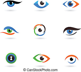 Eye logos and icons