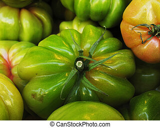 Green tomatoes - close up