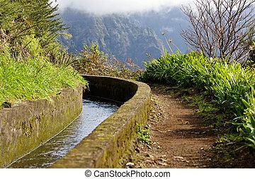 irrigation canal, levada