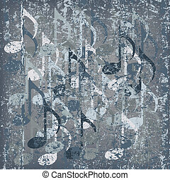 abstract cracked background grey musical note
