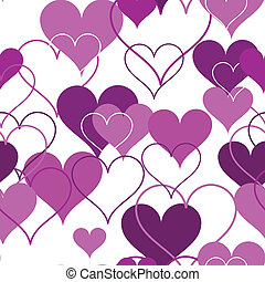 Hearts seamless Background Vector - Seamless pink and white...