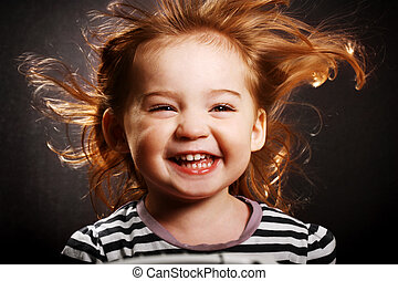 Happy little girl - A gorgeous little girl smiling...