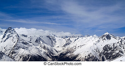 Panorama Mountains - Panorama Caucasus Mountains Dombay