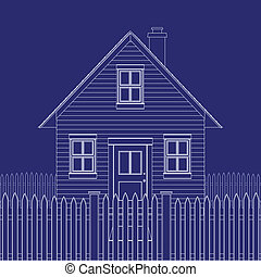 House blueprint - Blue print of a basic small house