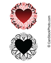 Love tattoo - Tattoo inspired design of heart surrounded by...