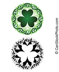 Luck tattoo - Tattoo inspired design of clover surrounded by...