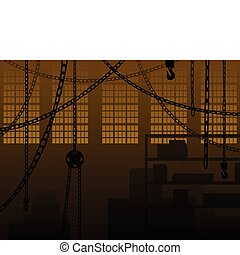 Factory background - Warehouse or factory background with...