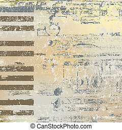 abstract jazz background piano keys on beige