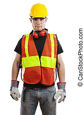 Construction Worker - Stock image of construction worker...