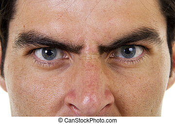 Angry Boss - Stock image of closeup of angry male face