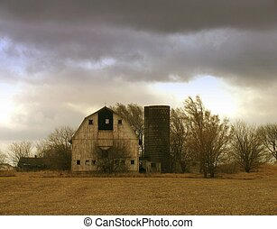 Cloudy Day - Rural farmland in a cloudy day