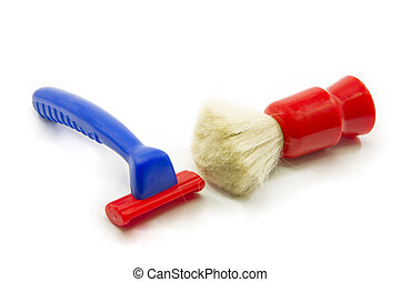 Childs toy shaving kit - Childs blue and red toy shaving kit...