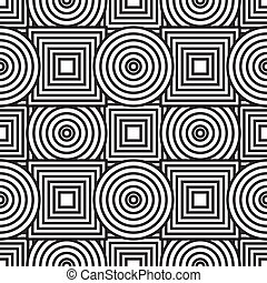 Abstract background with circles and squares -...