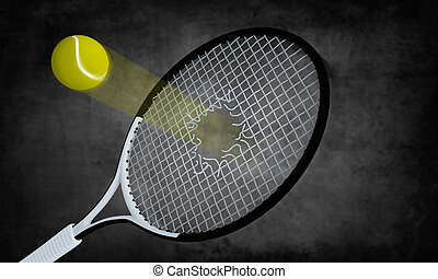 The speed ball - Power and speed shot breack the tennis...