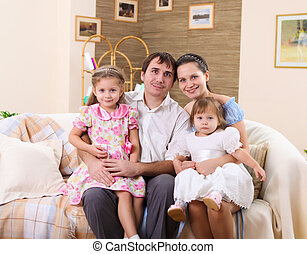 young family at home with a daughter - young family with a...