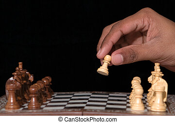 First move - the game begins
