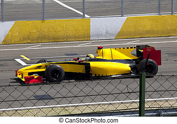 Formula 1 car - Beautiful Formula 1 car running at a maximum...
