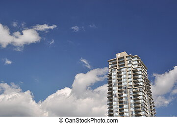 High rise building view