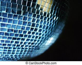 Disco Ball Reflections - shiny disco ball with lightbeams...