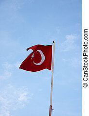 Turkish flag and the blue sky