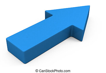 3d blue arrow