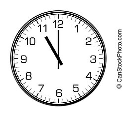 classic wall clock on the wall - classic wall clock on the...
