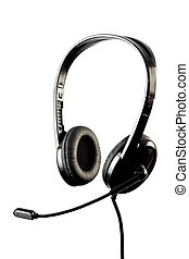 Black stylish headphone with microp - Black stylish...