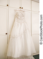 Wedding Dress - Beautiful wedding dress hanging up