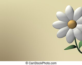 Background with daisy - Beige background with single daisy....