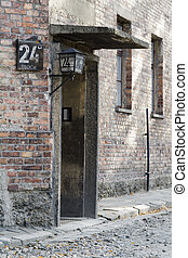 Auschwitz concentration camp - 24 block whorehause - Entrace...