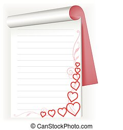 notebook with hearts 2
