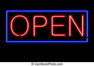 Neon Open Sign Vector