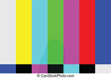 TV Test Pattern Illustration
