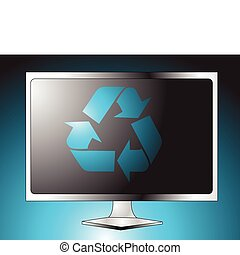 Plasma LCD TV vih recycle sign