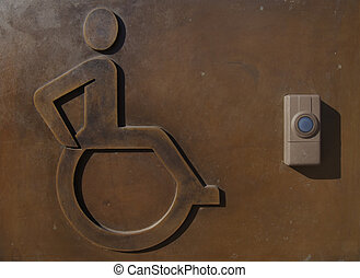 sign and system for disabled people - Push the button and...