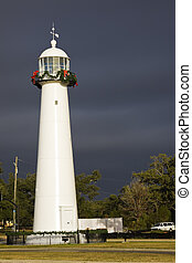 Biloxi Lighthouse in Mississippi, USA.