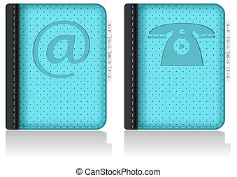 Adressbook, notebook, phonebook. Vector. - Set of...