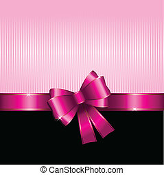 Valentines Day gift background - Gift background with pink...