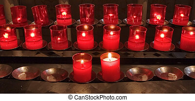 Burning candles - Candles in memory about died in a...