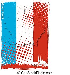 luxembourg poster - luxembourg map on the flag