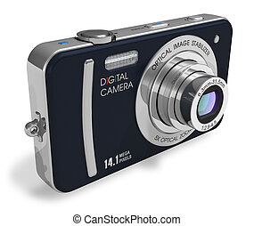 compacto, cámara,  digital