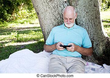Senior Texts on Smart Phone