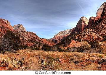 Zion National Park in Utah western United States