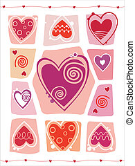 Valentines Day design with heart