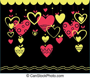 Abstract Valentines Day design