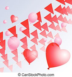 Valentine's pennants background